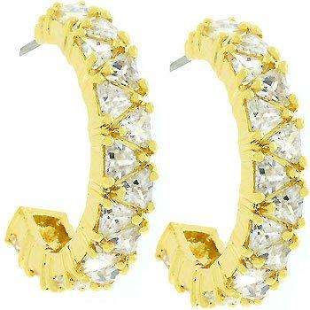 Trillion Cut Hoop Earrings