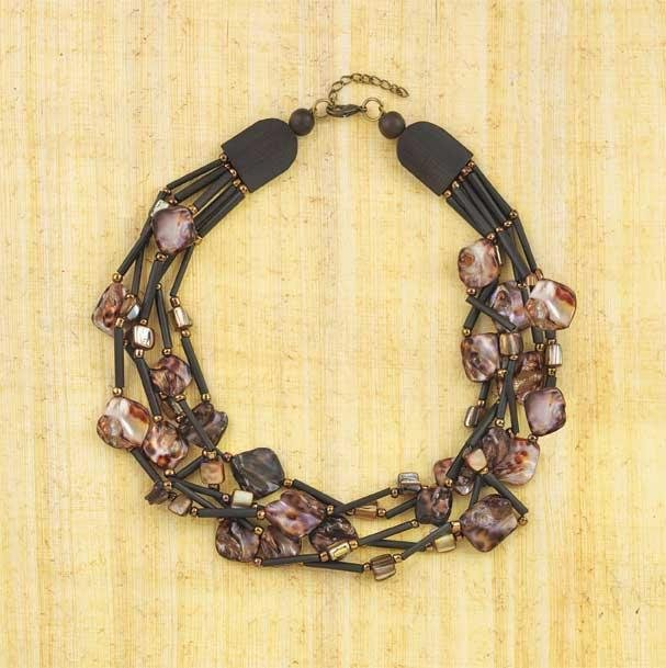 Leopard Tribal Shell Necklace