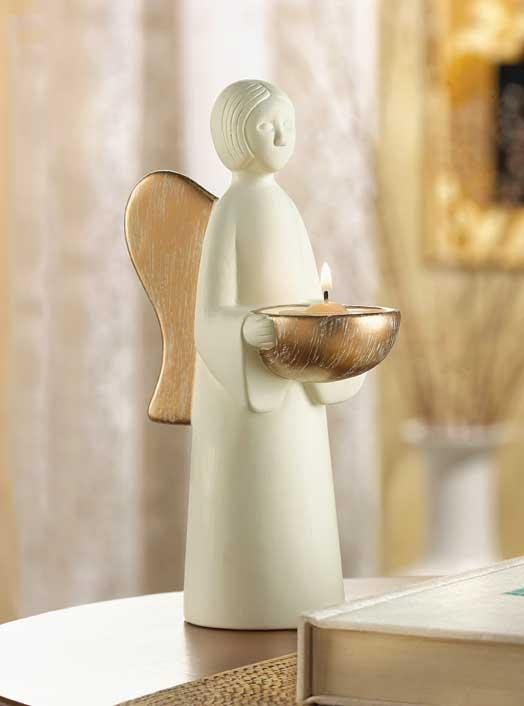 Folk-Art Angel Tealight Holder
