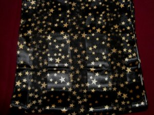 RockStar Black Gold Star Ladies Scarf