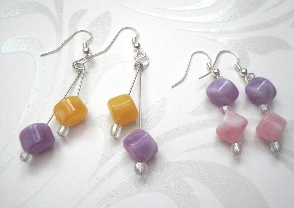 Little Girls Dangle Earrings Set