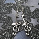 G-Clef Musical Note Earrings