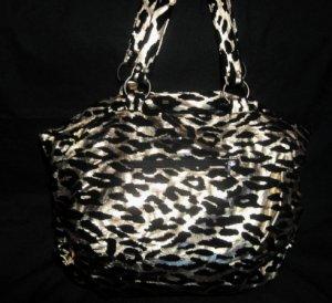 Leopard Gold Metallic Bag