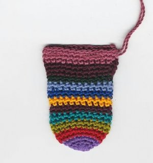 Crochet Crystal Gemstone Pouch