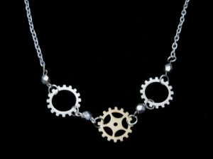 Steampunk Gears Industrial Necklace