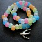 Girls Glow in The Dark Bird Bracelet Set