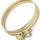 Dragonfly Evil Eye Bangle Bracelet Set