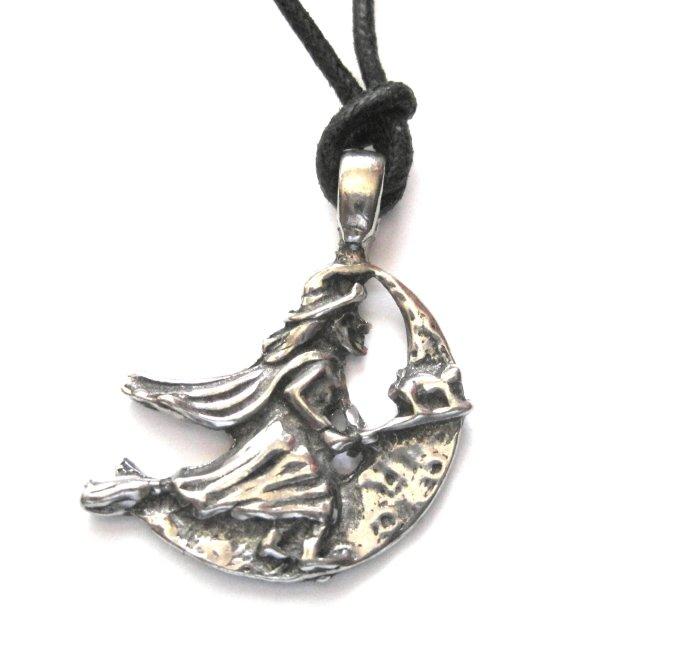 Travel Witch Talisman Pendant Necklace