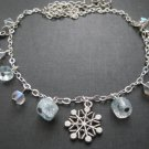 Winter Snowflake Ice Princess Charm Necklace