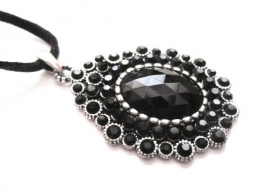 Black Stone Victorian Necklace