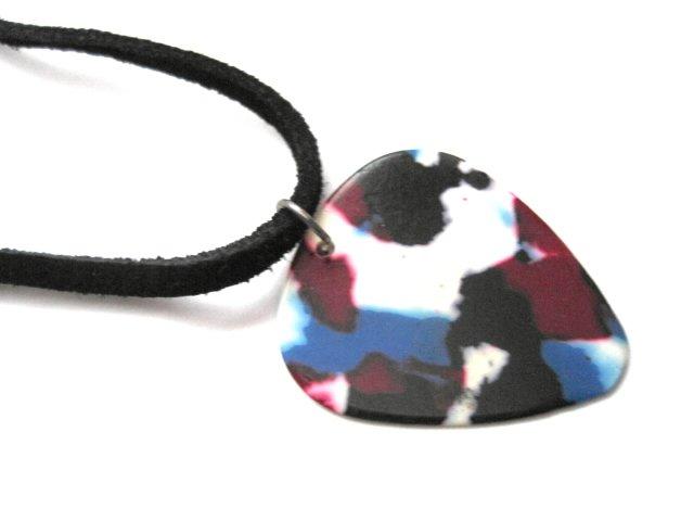 Guitar Pick Black Suede Choker Necklace
