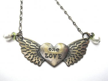 Heart With Wings One Love Necklace