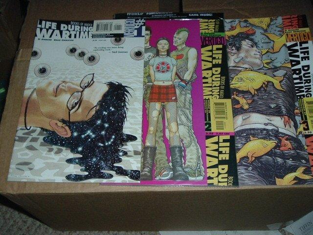 Books of Magick: Life During Wartime #1, 2, 3.  #2 is STILL FACTORY SEALED w/DVD.  DC Vertigo Comics
