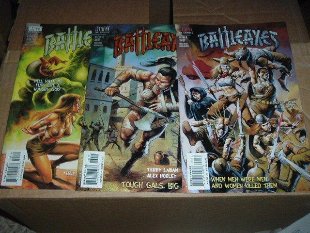 Battle Axes #1, 2, 3 (DC Vertigo Comics run lot) battleaxes, SAVE $$$$ COMBINING SHIPPING
