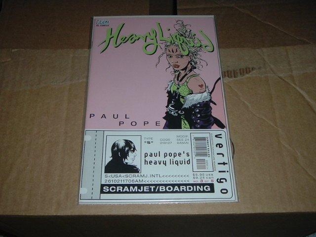 Heavy Liquid #3 (DC Vertigo Comics) by THB-man Paul Pope, SAVE $$$ WITH COMBINING