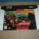 """NEW Donkey Kong Country 2 """"FOR DISPLAY ONLY"""" AUTHENTIC Game Box SNES, RARE Diddy's Quest, FOR SALE"""