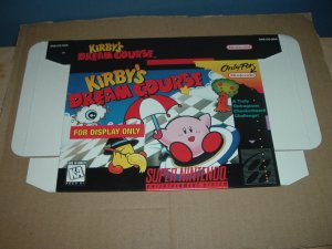 "BRAND NEW Kirby's Dream Course ""FOR DISPLAY ONLY"" Authentic SNES Game Box, RARE item FOR SALE"