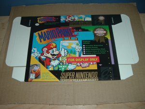 """BRAND NEW Mario Paint """"FOR DISPLAY ONLY"""" Authentic SNES Game Box, VERY RARE item FOR SALE"""