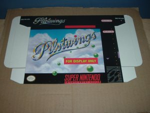 """BRAND NEW Pilot Wings """"FOR DISPLAY ONLY"""" Authentic SNES Pilotwings Game Box RARE item FOR SALE"""