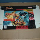 """BRAND NEW Pinocchio """"FOR DISPLAY ONLY"""" Authentic SNES Game Box, VERY RARE item FOR SALE"""
