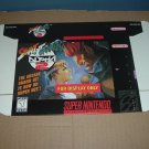 "BRAND NEW Street Fighter Alpha 2 ""FOR DISPLAY ONLY"" Authentic SNES Game Box RARE item FOR SALE"