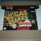 """BRAND NEW Vegas Stakes """"FOR DISPLAY ONLY"""" Authentic SNES Game Box, VERY RARE item FOR SALE"""