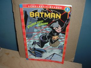 Batman: The Purr-Fect Crime (scholastic reader Level 3) Kids 40-page Book starring Catwoman