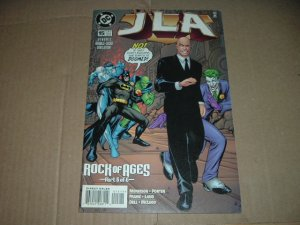 JLA #15 Double-Sized Issue (DC Comics, Grant Morrison) justice league of america comic For Sale