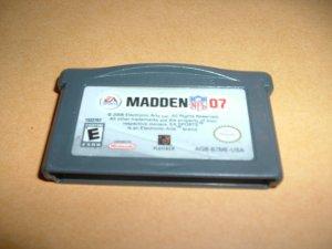 Madden NFL 07, 2007 (Nintendo Gameboy Advance) TESTED & WORKS GREAT, game For Sale