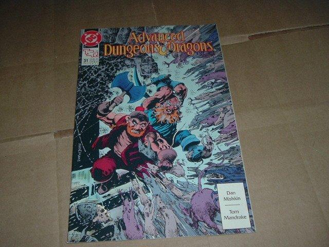 Advanced Dungeons & Dragons #31 VF+ Tom Mandrake art (DC Comics 1991 TSR) Save $$ Shipping Special