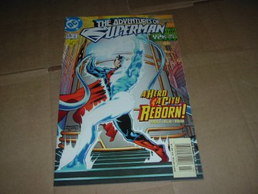 Adventures of Superman #576 VF (DC Comics 2000).Blue Electric SM dies, regular Superman is back