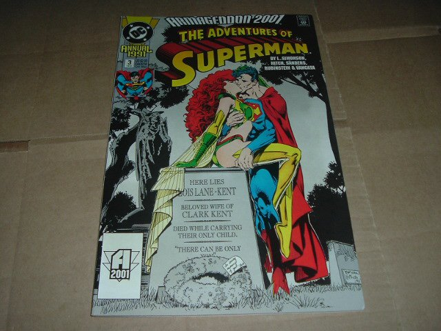 Adventures of Superman Annual #3 BRYAN HITCH's 1st USA ART WORK., ALL 56 pages VF Armageddon 2001