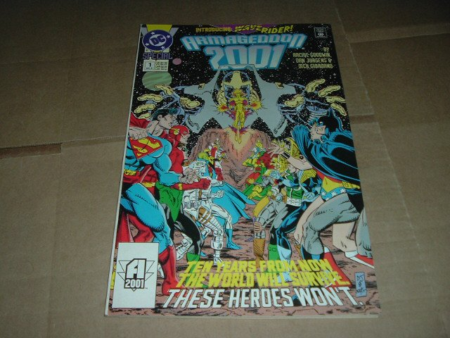 Armageddon 2001 FIRST PRINT Dan Jurgens Art on ALL 56 pages (DC Comics 1991) Save $ Shipping Special