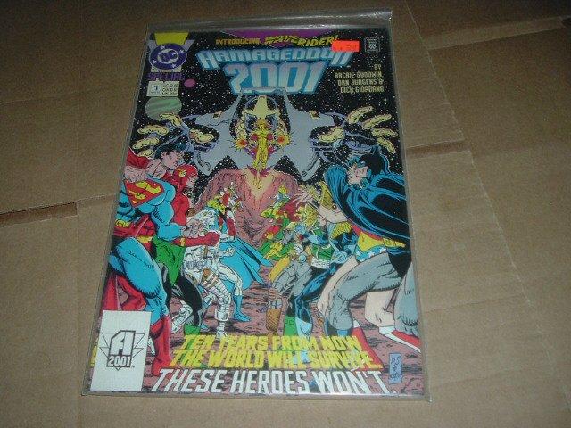 Armageddon 2001 #1 VF FIRST PRINT Dan Jurgens Art ALL 56 pages DC Comics 1991 Save $$ ShipSpecial