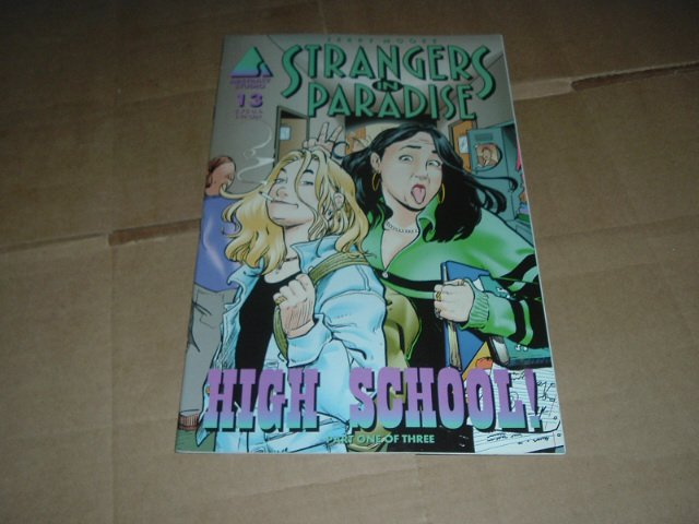 Strangers in Paradise #13 (vol. 3) ORIGIN, VF, High School Part 1, Terry Moore (Abstract Studio)