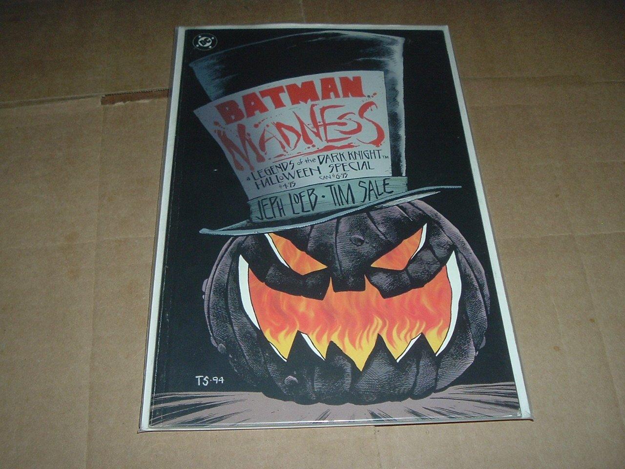 BATMAN: MADNESS Graphic Novel (DC Jeph Loeb 1994) Prestige Format Dark Knight Halloween Special GN