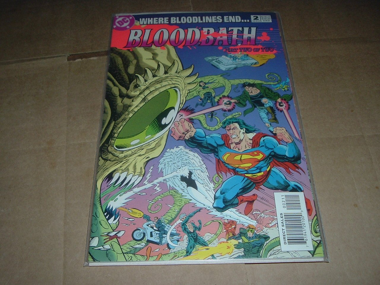 Bloodbath #2 NEAR MINT 2nd Hitman, Final Issue of Bloodlines 1993 Annuals Crossover event DC Comics