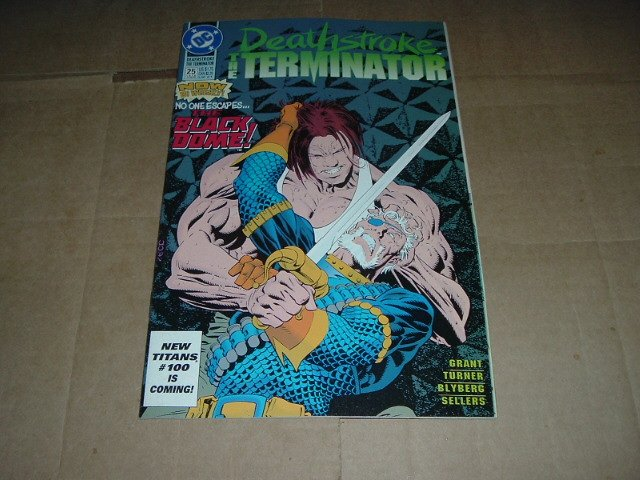 Deathstroke: The Terminator #25 VERY FINE+ (DC Comics 1993 Slade Wilson) Flat Rate Shipping Special