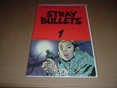 Stray Bullets #1 FIRST PRINT RARE, Very Fine+ (David Lapham, El Capitan Books) comic for sale