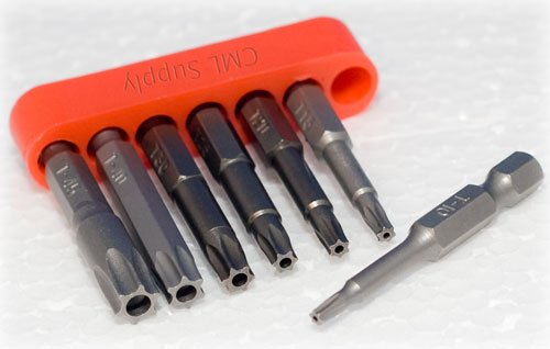 Torx Tamper Proof Star Security Bit Set T10 to T45