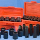 "Impact Socket Set 1/2"" SAE Metric 4 pack COMBO 46 pcs"