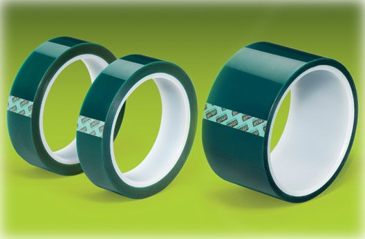 "Green Polyester Tape Powder Coating High Temp 1""x72yd"