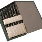 "Drill Bit Set M2 Premium 29pcs 1/16-1/2"" USA Huot Index"