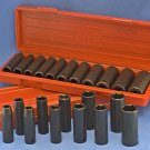 "Impact Socket Set 1/2"" Deep Well SAE MM COMBO 24 pcs"