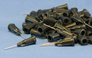 "Dispensing Needle 22 ga 0.020id x 1"" Tip Black 50 pcs"