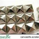 100Pcs 8mm Silver Color Pyramid Rivet STUDS for Craft Punk Look
