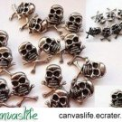 10Pcs Silver Color Skull Punk Rivet STUDS