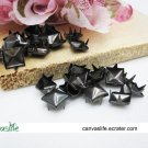100Pcs 8mm Gunmetal Pyramid Rivet STUDS
