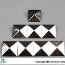 50Pcs 20mm Silver Color Pyramid Rivet STUDS