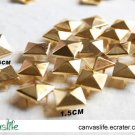 100pcs 15mm Golden Color Pyramid Rivet STUDS